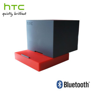 HTC BoomBass Wireless Bluetooth Speaker and Stand - Red/Grey