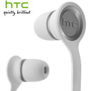 HTC RC E190 Flat Cable Hands-Free Kit Headset - White