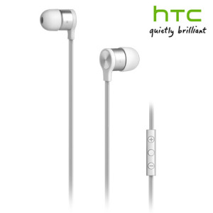 HTC RC E240 Flat Cable Hands-Free Kit Headset - White