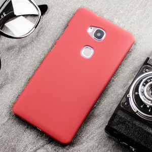 Huawei Honor 5X Hybrid Rubberised Case - Red