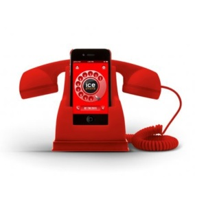 Ice-Phone Retro Handset - Red