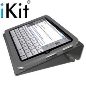 iKit Leather Folio Case for iPad 4 / 3 / 2 - Grey