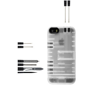 IN1CASE Multi-Tool Utility iPhone 5S / 5 Case - Clear / Black
