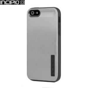 Incipio DualPro Shine Case For iPhone 5S / 5 - Silver / Black