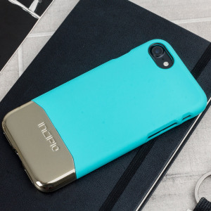 Incipio Edge Chrome iPhone 7 Case - Turquoise / Chrome Champagne Gold