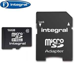 Integral 16GB Class 10 Micro SDHC Memory Card