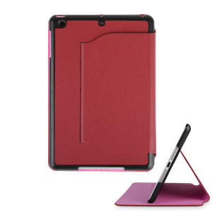 iPad Mini 2 / iPad Mini Ultra-Thin Leather Case with Stand - Red
