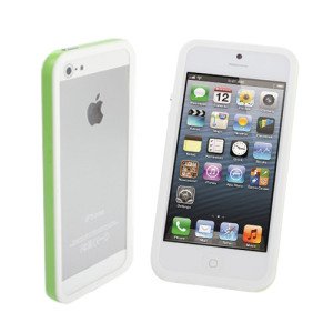 iPhone 5S / 5 Sandwich Bumper - Green & White