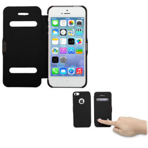 iPhone 5S / 5 Ultra Slim Side Open Case - Black