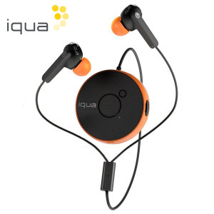 Iqua Spin Bluetooth Earphones - Black / Orange