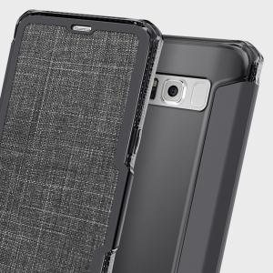 ITSKINS Spectra Samsung Galaxy S8 Plus Leather-Style Case - Black