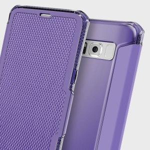 ITSKINS Spectra Samsung Galaxy S8 Plus Leather-Style Case - Purple