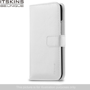 ITSKINS Wallet Book Leather-Style Wiko Bloom Case - White