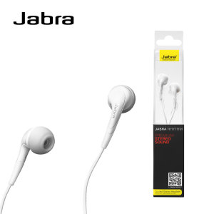 Jabra Rhythm Wired Stereo Headset and Built-in Microphone - White