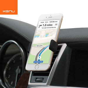 kenu airframe leather edition in car smartphone mount stand black dis profile Agar