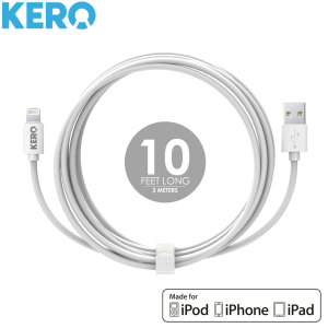 Kero Charge and Sync iPhone / iPad 3 Meter Lightning Cable - White