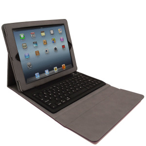KeyCase iPad 4 / 3 / 2 Folio Deluxe with Bluetooth Keyboard - Purple