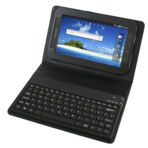 KeyCase Samsung Galaxy Tab Faux Leather Case & Keyboard - Black