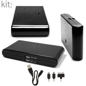 Kit: High Power 20,800 mAh Dual USB Portable Charger