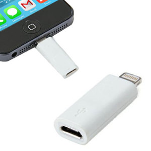 Kit Micro USB To Lightning Adapter - White