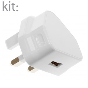 Kit: Universal Mains Power Fast Charger - 2.1A - White