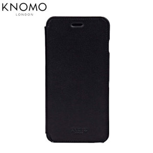 Knomo Leather Folio iPhone 6 Plus Wallet Case - Black