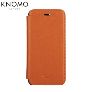 Knomo Leather Folio iPhone 6 Plus Wallet Case - Brown