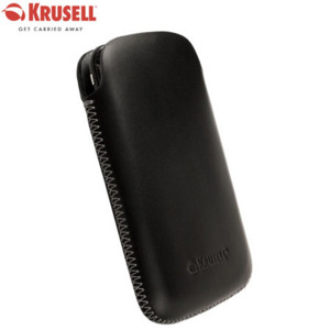 Krusell DONSö Leather Pouch for Samsung Galaxy S i9000 - Black