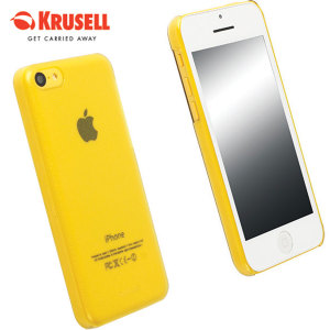 Krusell Frostcover Case for iPhone 5C - Yellow