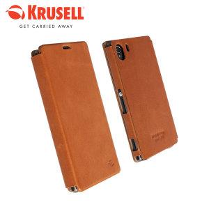 Krusell Kiruna Flipcover For Sony Xperia Z1 - Camel