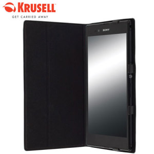 Krusell Malmo Flip Cover for Xperia Z Ultra - Black Plain