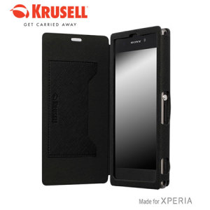 Krusell Malmo FlipCover for Xperia Z1 - Black