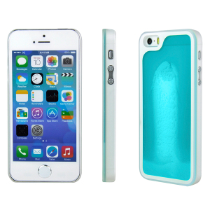 Kuke Glow In The Dark Sand Case for iPhone 5S / 5 - Blue