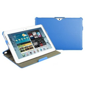 Leather Style Book Case with Stand for Galaxy Tab 2 (10.1) - Blue