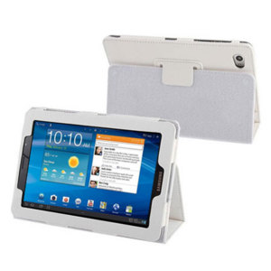 Leather Style case for Samsung Galaxy Tab 7.7 - White