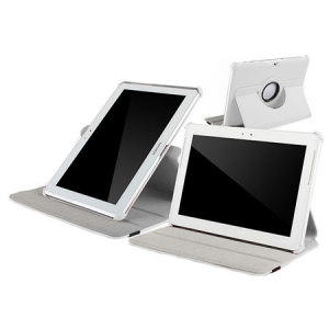 Leather Style Rotating Case for Galaxy Tab 2 10.1 - White