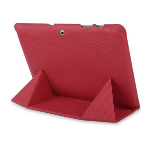 Leather Style Ultra Thin Samsung Galaxy Tab 2 10.1 Case - Red