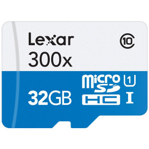 Lexar 32GB Micro SDHC Memory Card with SD Adapter - Class 10