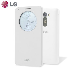 LG G3 QuickCircle Snap On Case - Silk White
