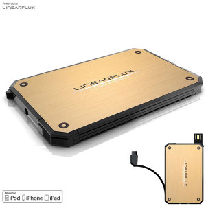 Linearflux LithiumCard Portable Power Bank - Lightning - Gold