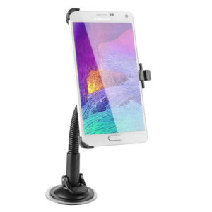 Long Neck Samsung Galaxy Note 4 Car Holder - Black