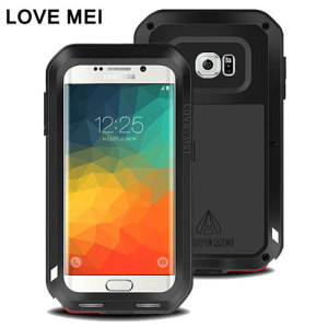 love mei powerful samsung galaxy s6 edge protective case black