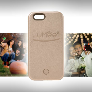 LuMee iPhone SE Selfie Light Case - Rose Gold