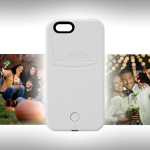 LuMee iPhone SE Selfie Light Case - White