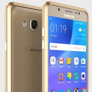 Luphie Blade Sword Samsung Galaxy J7 2016 Aluminium Bumper - Gold