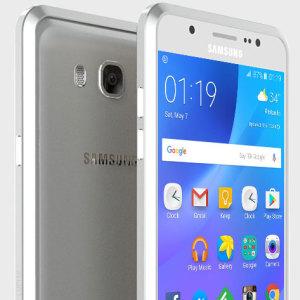 Luphie Blade Sword Samsung Galaxy J7 2016 Aluminium Bumper - Silver