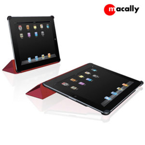 Macally BookStand2R Cover and Stand for iPad 2 - Red
