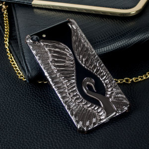 Magnificent Swan Clip-on iPhone 7 Case - Black