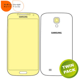 Martin Fields Overlay Screen Protector Twin Pack - Samsung Galaxy S4