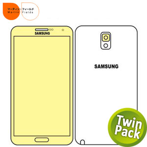 Martin Fields Screen Protector Twin Pack - Samsung Galaxy Note 3